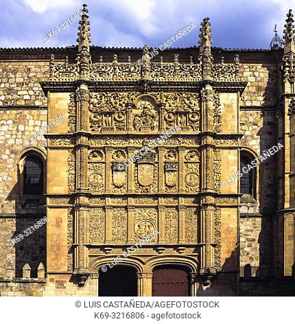 The University of Salamanca is a Spanish higher education institution, located in the city of Salamanca, west of Madrid, in the autonomous community of Castile...