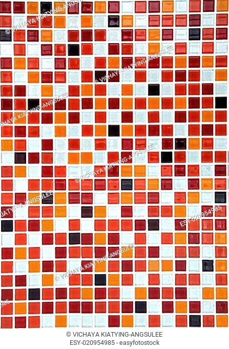 red ceramic mosaic background, vertical