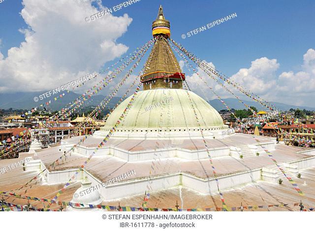 Buddhist Stupa of Boudhanath, Kathmandu, Nepal, Asia