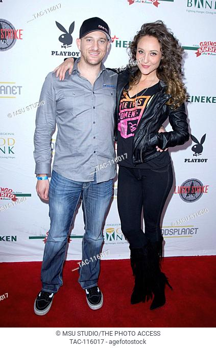 Sam Barnett and Lauren Mayhew attend the 2nd Annual Bowling With Bunnies Charity Fundraiser benefiting the LA Food Bank, presented by Playboy and Lucky Strike...