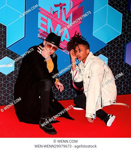 The 2016 MTV Europe Music Awards (EMAs) held at the Ahoy Rotterdam, Netherlands - Red Carpet Arrivals Featuring: Jaden Smith Where: Rotterdam