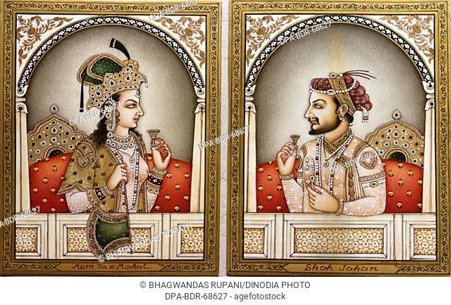 Mumtaz Mahal and Shah Jahan painting