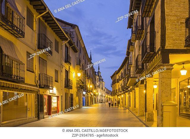 Burgo de Osma village by dusk Soria province Castile Leon Spain