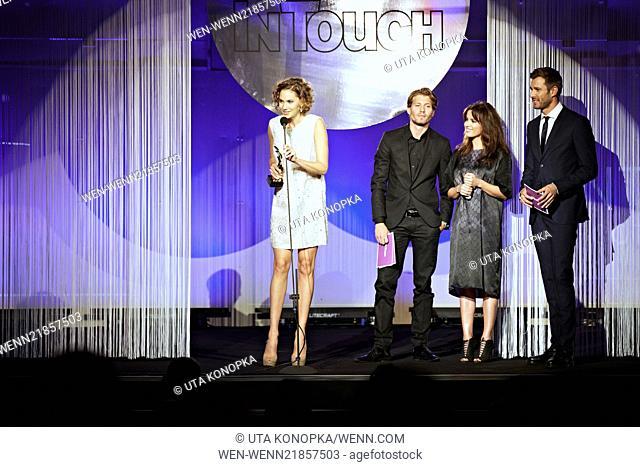 Celebrities attending the second 'InTouch Award' at Medienhafen. Featuring: Emma Ferrer,Raul Richter,Natalia Avelon,Jochen Schropp Where: Düsseldorf