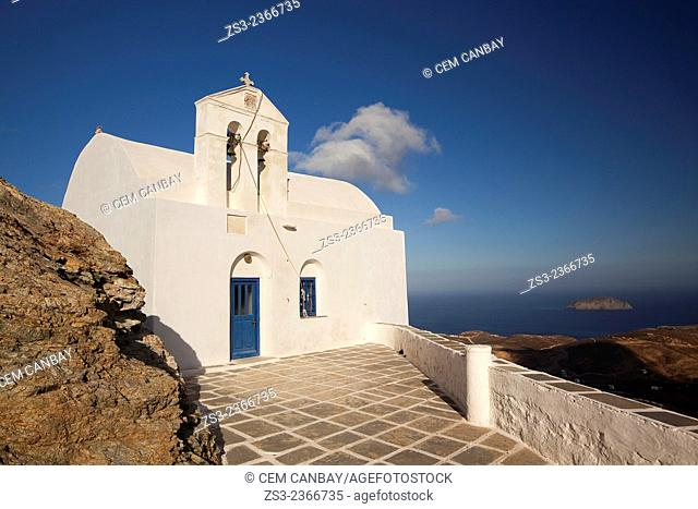 Agios Ioannis Theologos church in the main town Hora, Serifos, Cyclades Islands, Greek Islands, Greece, Europe