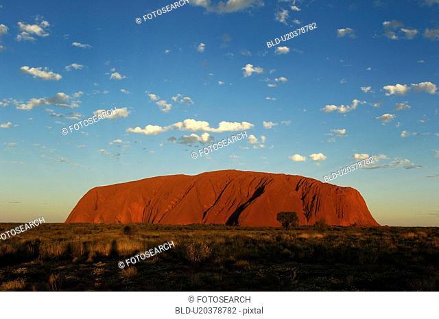 wolkenstimmung, abenddaemmerung, Australia, australisch, ayers, big, center