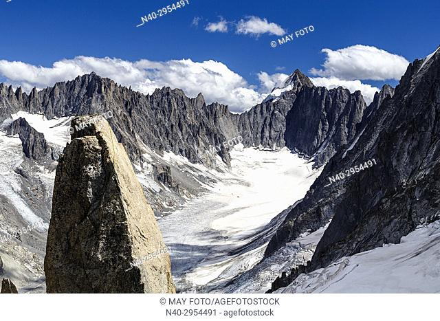 Chamonix, Glacier d'Argentière, Lac Blanc, Haute Savoie, France, Europe
