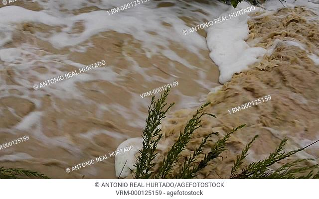 Muddy water. Almansa. Albacete. Spain