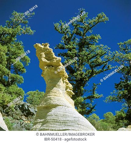 Tenerife Canaries Canary Islands Spain national park Paissaje Lunar erosion of the sand stones