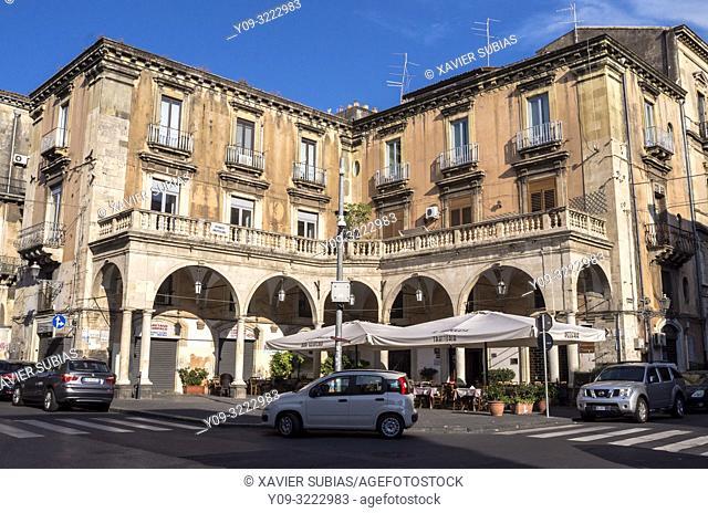 Piazza Mazzini, Catania, Sicily, Italy