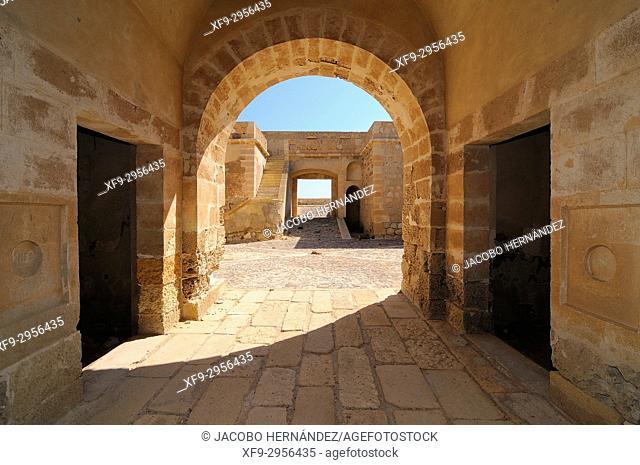 Castle of San Felipe. Los Escullos. Cabo de Gata-Níjar Natural Park. Almería province. Andalusia. Spain