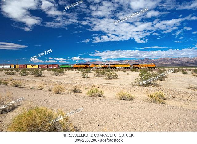 Bnsf Railway Train Amboy California Usa