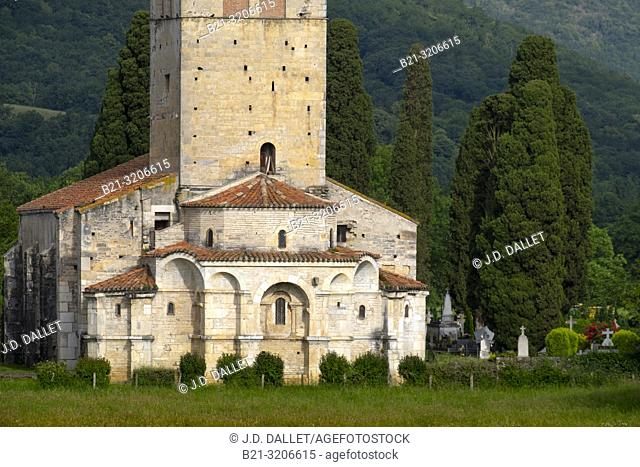 France, Occitanie, Haute Garonne, Ramanic basilic of Saint Just ,by Saint Bertrand de Comminges