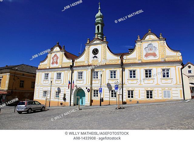 Town hall, Kasperske Hory, South Bohemian Region, Czech Republic, Europe