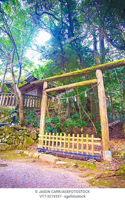 Kita shrine in Ishikawa, Japan. The religion for Japanese people is mostly Shinto