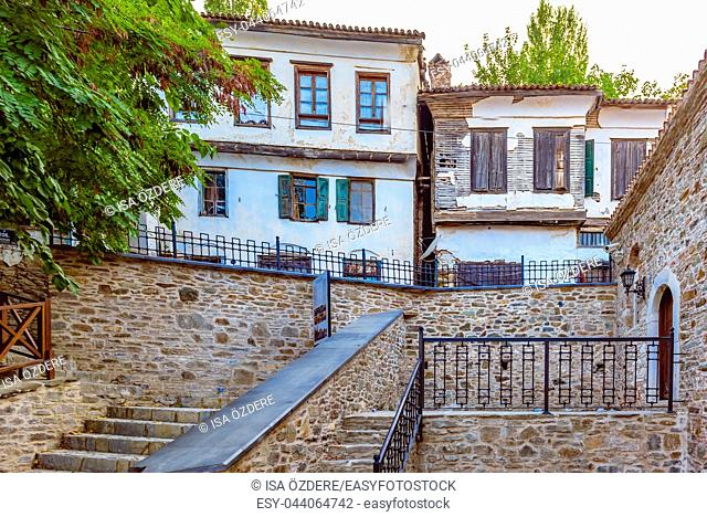 View of traditional Houses at Sirince Village,a popular destination in Selcuk,Izmir,Turkey. 21 August 2017