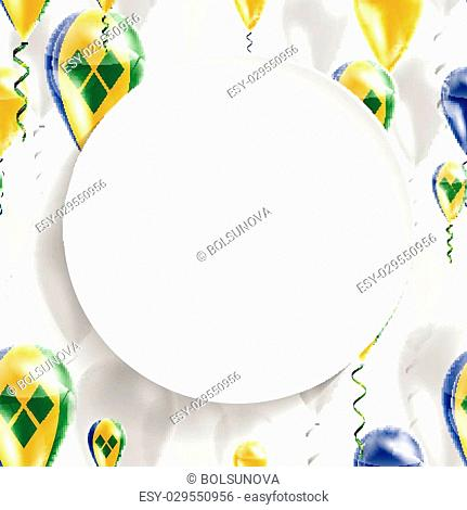 Ball flag saint vincent and the grenadines Stock Photos and