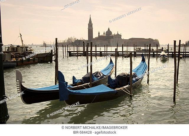 Gondolas at San Marco, Venice, Italy