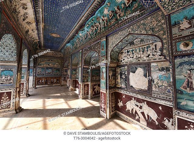 The Chitrasala picture gallery in the Bundi Palace, Bundi, Rajasthan, India