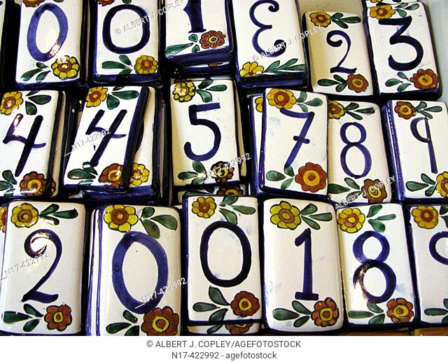 Ceramic tile numbers, Mexico