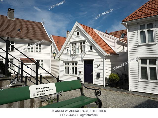 "The self proclaimed """"shortest street in Bergen"""". Bergen, Norway"