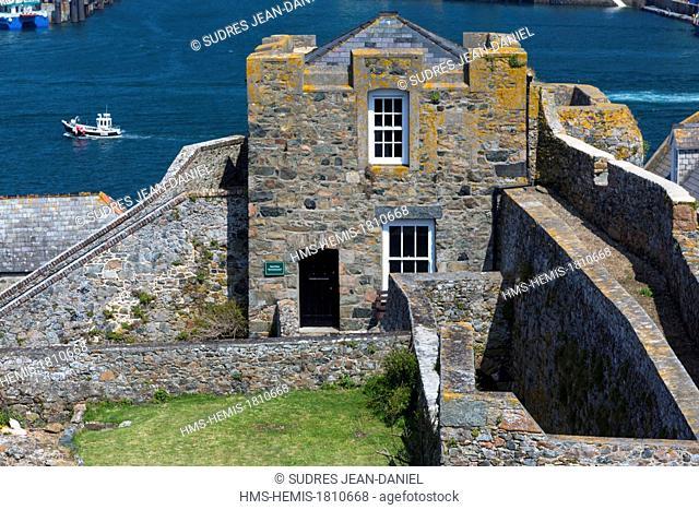 United Kingdom, Channel Islands, Guernsey island, Saint Peter Port, Castle Cornet