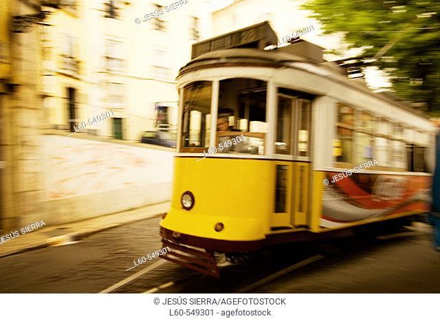 Tramway. Lisbon. Portugal