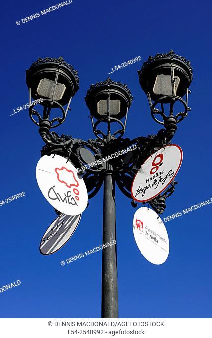 Sign Avila Spain Castile-Léon Medieval