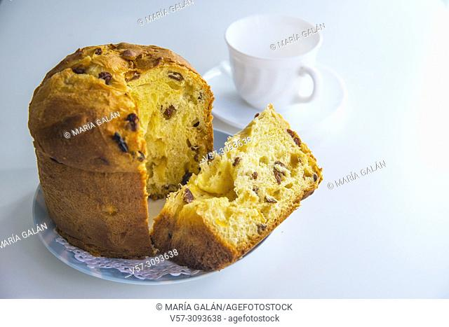 Panettone, typical cake of Italian Christmas