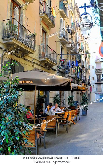 Las Ramblas Barcelona Spain Europe Catalonia