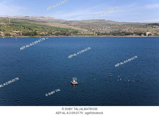 Aerial photograph of the Sea of Galilee