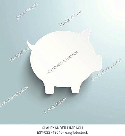 Big White Piggy Bank PiAd