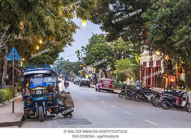 Laos, Luang Prabang, tuk-tuk, motorcycle taxi