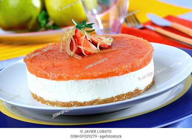 Cottage cheese and quince pie