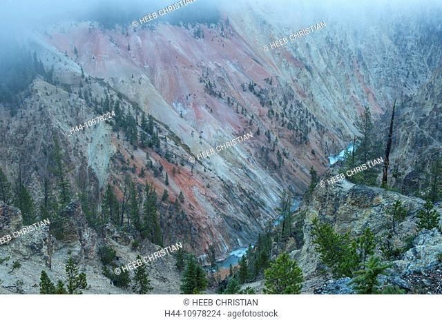 USA, United States, America, Wyoming, Rockies, Rocky Mountains, Yellowstone, National Park, UNESCO, World Heritage, Grand Canyon of the Yellowstone, canyon