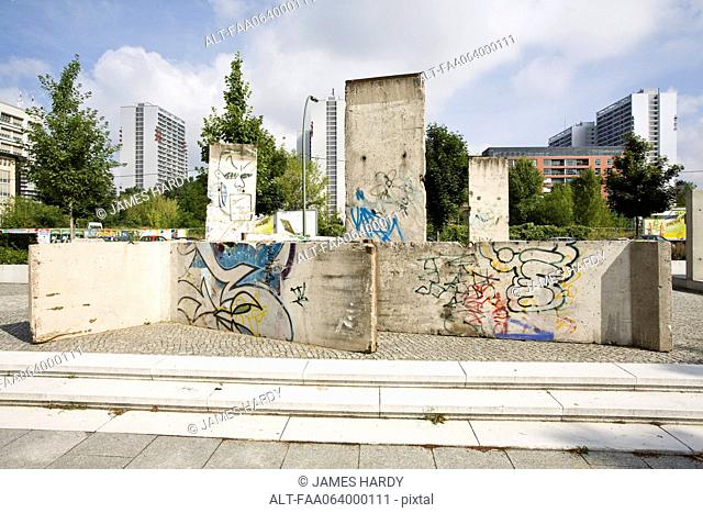 Germany, Berlin, pieces of the Berlin Wall