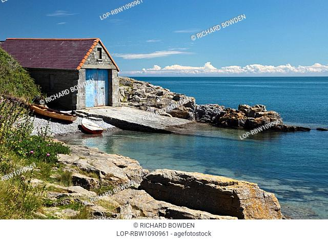Wales, Anglesey, Moelfre, The old lifeboat station at Porth Neigwl, Moelfre, on the Isle of Anglesey