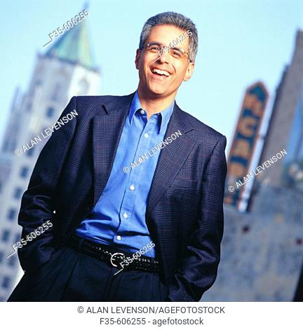 Relaxed Businessman in City