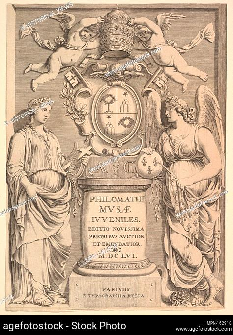 Title Page: Philomathi Musae Juveniles. Artist: Attributed to Claude Mellan (French, Abbeville 1598-1688 Paris); Artist: Possibly by Pierre Daret (French
