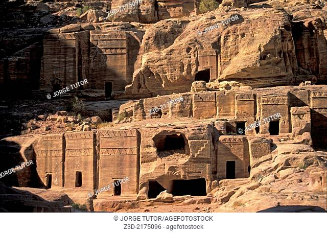 Street of facades Necropolis Theatre, Petra City, Jordan
