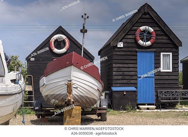 Fisherman Huts Southwold Suffolk England