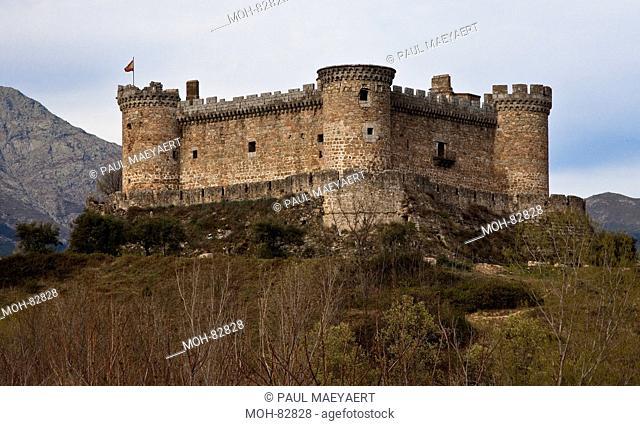 Spanien Provinz Avila Castillo de Mombeltrán Burg der Herzöge von Alburquerque