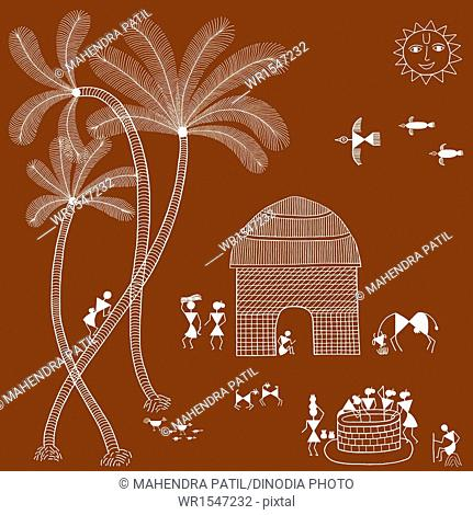 warli painting India Asia