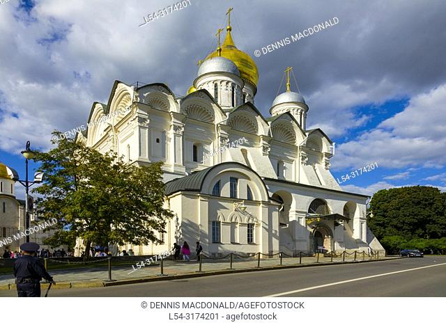 The Archangel Cathedral The Kremlin Moscow Russian Moskva city National capital of Russia. The Moscow Kremlin (Russian: МоÑ. ковÑ. кий КÑ