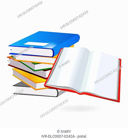 Illustration of stack of books