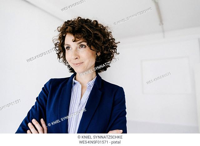 Businesswoman, smiling happily