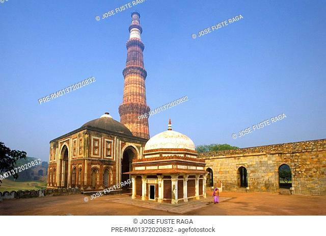 The Alai minaret in the Qutb Minar Complex, New Delhi City, India, Asia