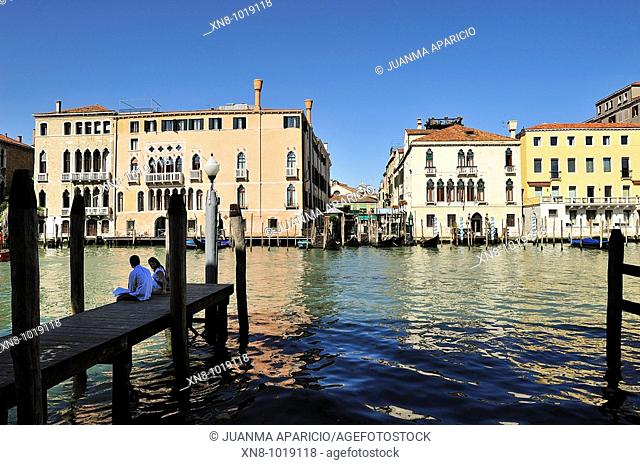 People Sitting in the city of Venice