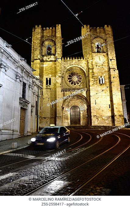 The Patriarchal Cathedral of St. Mary Major -Se Cathedral- in Lisbon, Portugal. Europe