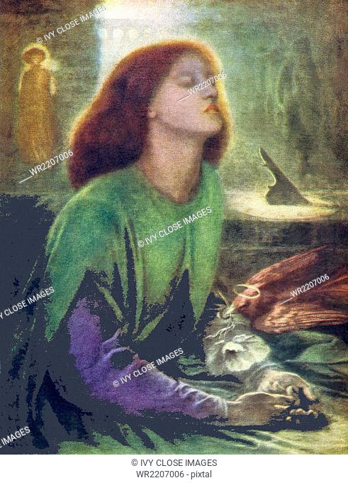 Dante Gabriel Rossetti (1828-1882) was an English port, illustrator, painter, and translate. Rossetti is credited as a founder of the Pre-Raphaelite Brotherhood
